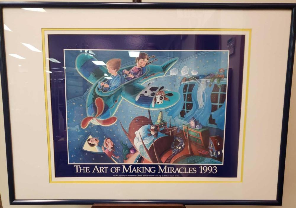 Lot 528: The Art of Making Miracles 1993 Michele Noiset Framed Print