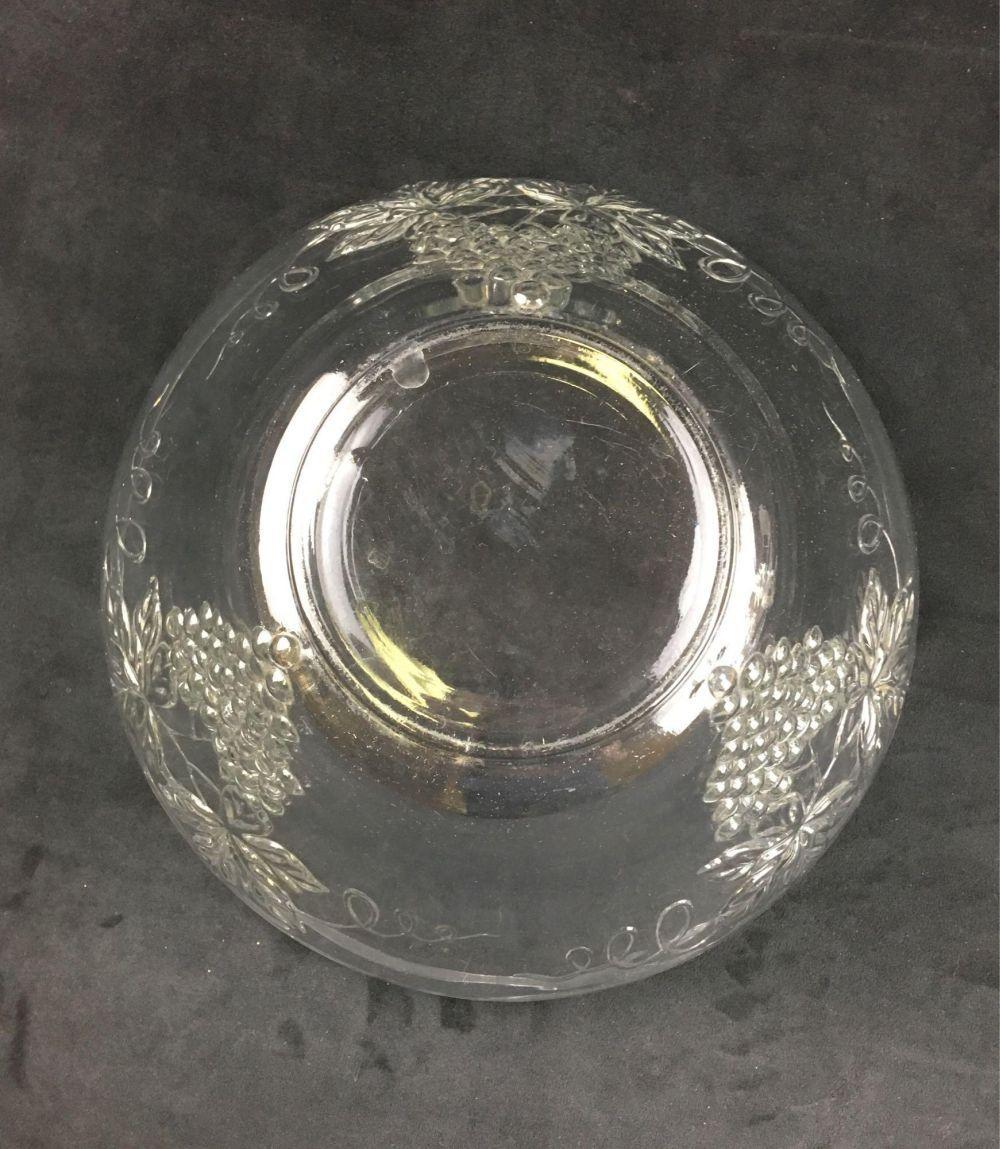 Lot 526: Vintage Glass Grape Punch Bowl