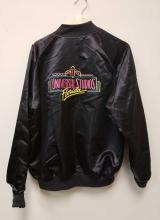 Lot 532: 80s/90s Universal Studios Florida Black Letterman XL Satin Jacket