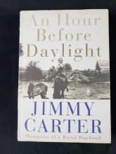 Lot 536: An Hour Before Daylight and Talking Peace by Jimmy Carter