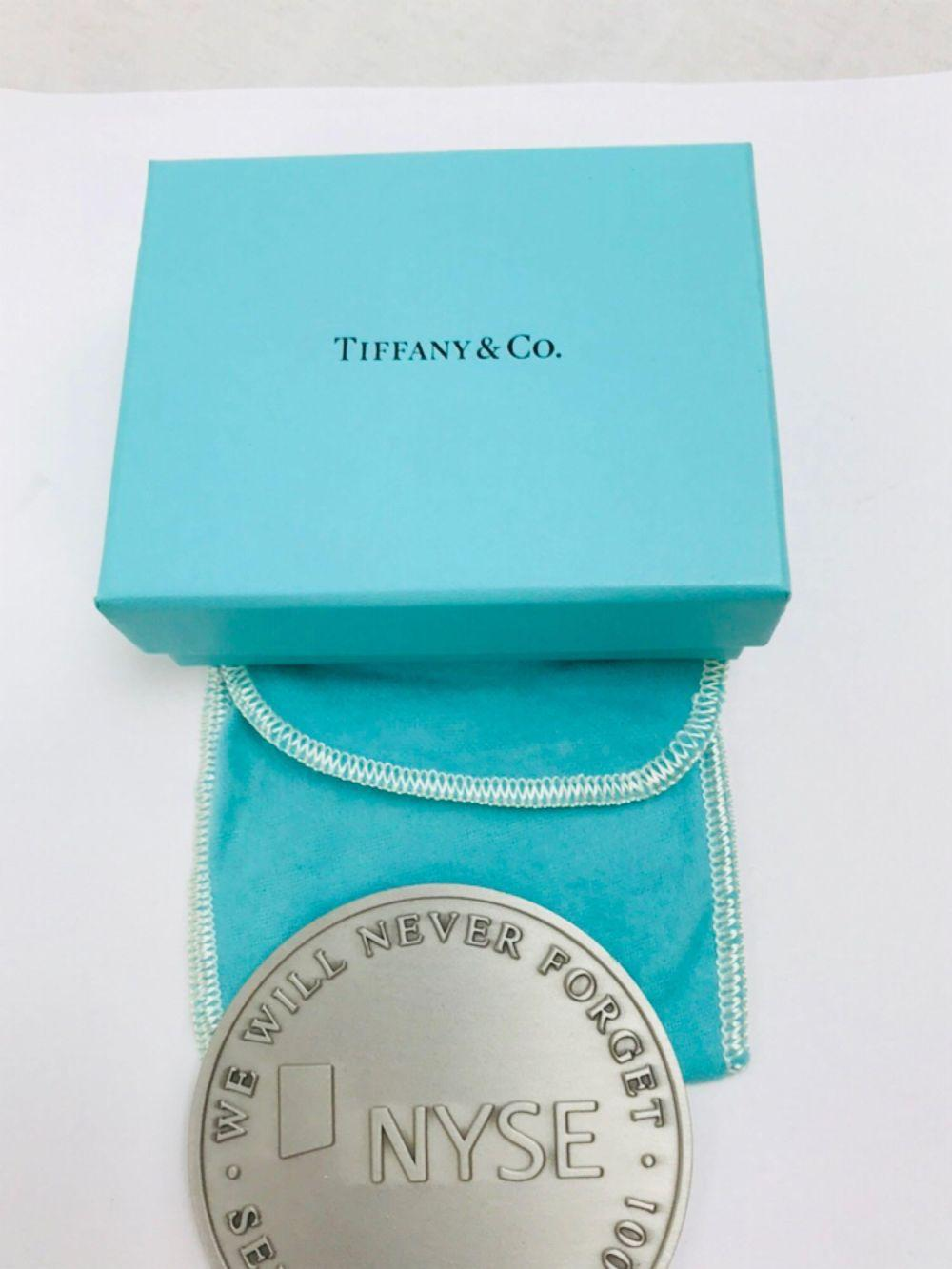 Lot 534: NYSE Sterling Silver Medallion Tiffany and Co. 9/11