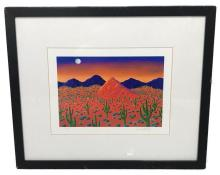 Lot 539: Limited Edition Lithograph, Desert Sunset by Joanne Netting, Signed and Numbered