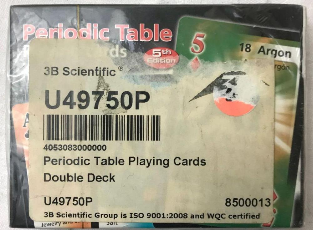 Lot 551: NOS Educational Playing Cards Periodic Table