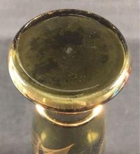 Lot 560: Mid Century Modern Gold Toned Dark Gray Glass Vase