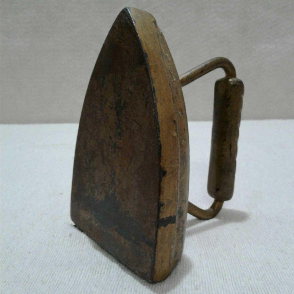 Lot 561: Antique Cast Iron, Iron Painted Gold