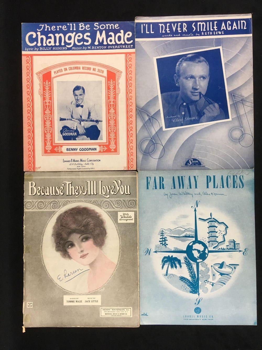 Lot 567: Collection of 16 Pieces of Vintage Sheet Music 1920s to 1940s