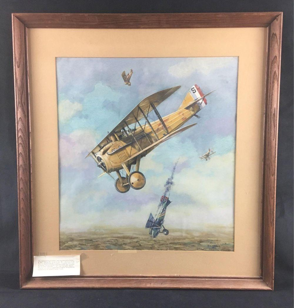 Lot 569: WWI France SPAD 7 Lithograph