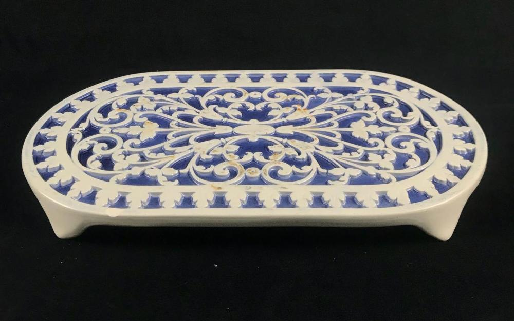 Lot 577: Hand Painted Italian Trivet