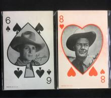 Lot 576: Lot of 8 Vintage Arcade Cards Playing Cards of Western Cowboys Circa 1940s 1950s