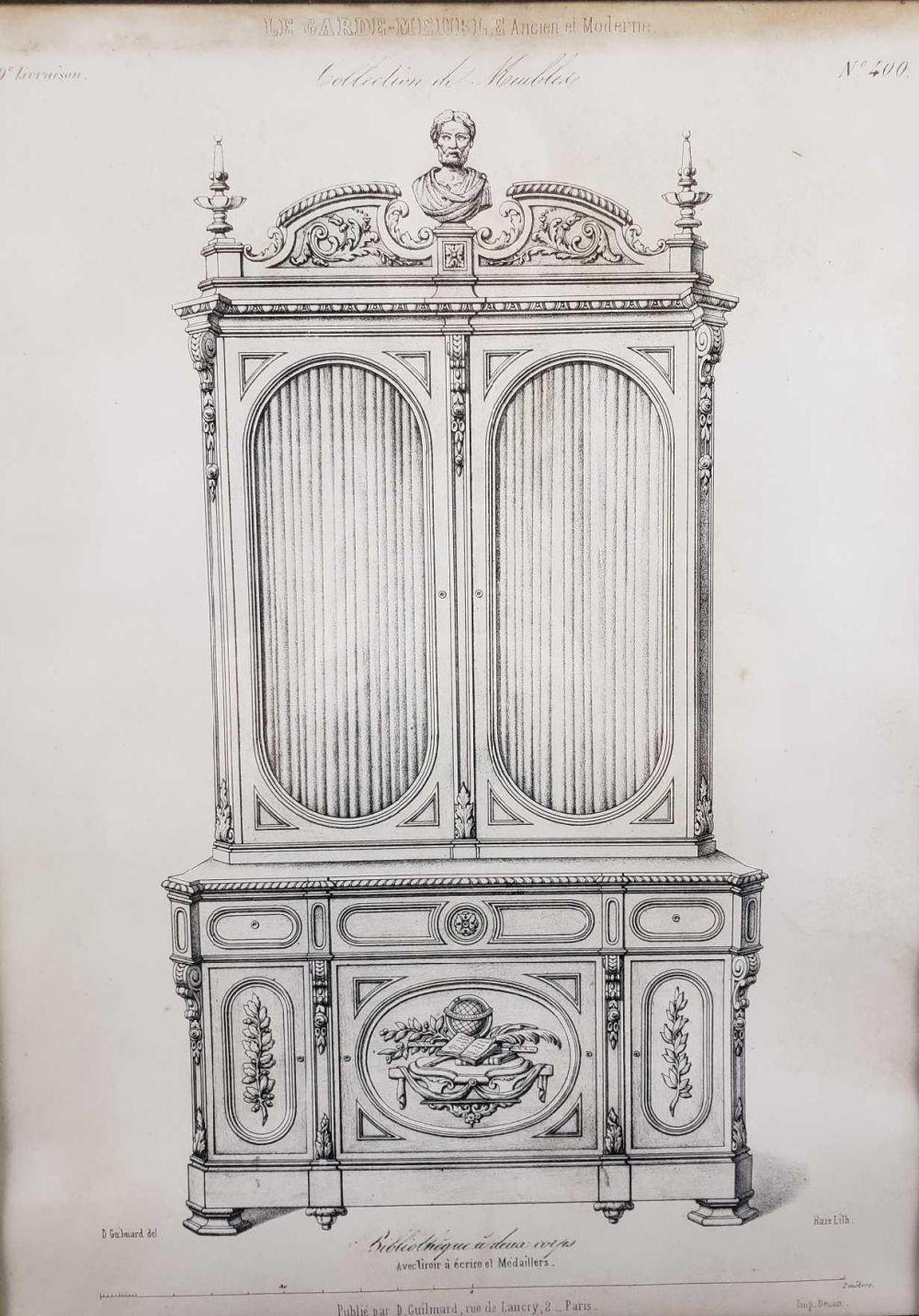 Lot 573: Desire Guilmard Le Garde Meuble Ancien et Moderne Framed French Decorative Art Lithograph