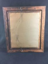 Lot 583: Wall Mirror Mounted in Vintage Carved Built up Wood Frame