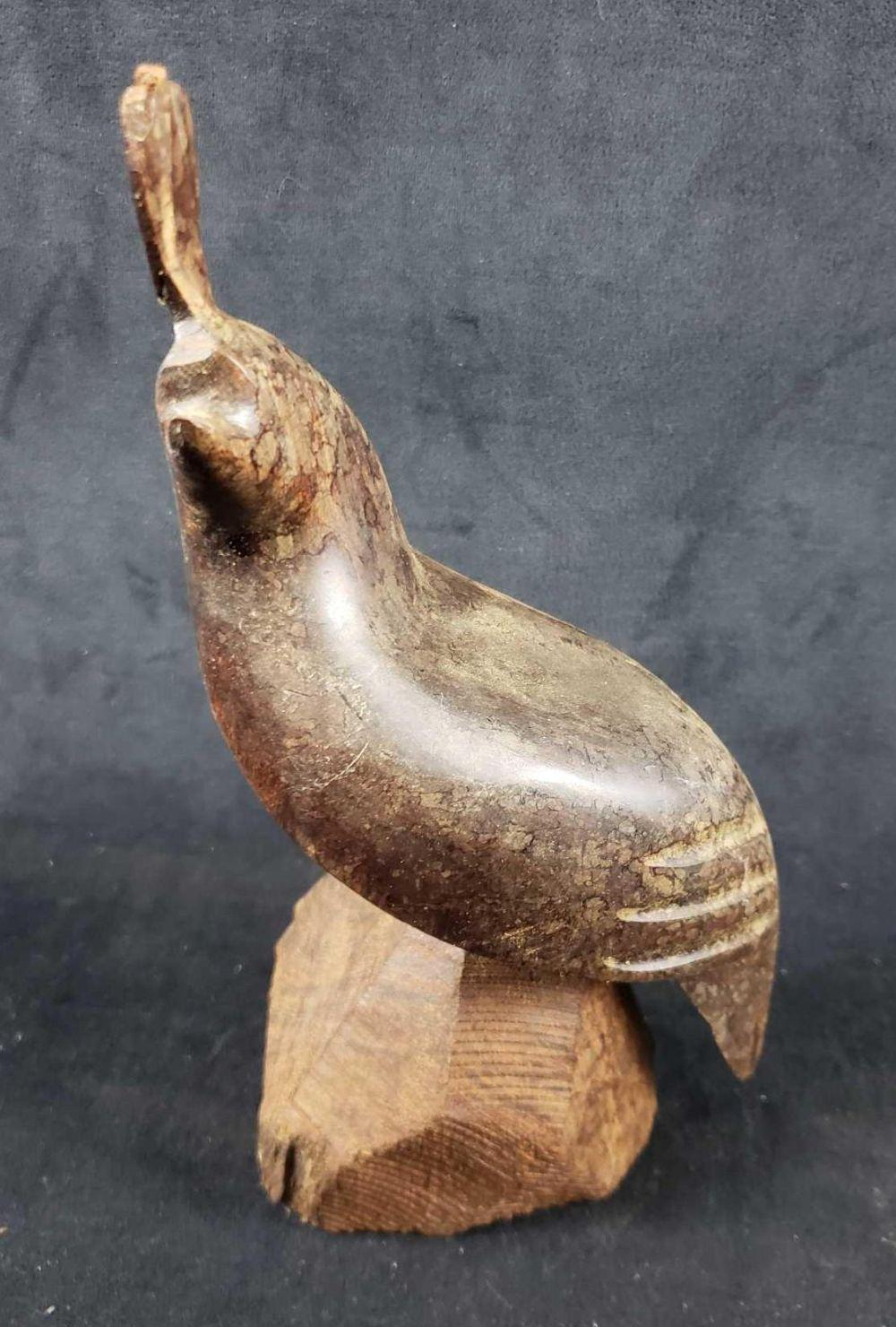 Lot 582: Wood Carved Quail