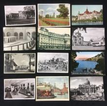 Lot 585: Lot of 12 Vintage Post Cards from a European Tour in 1952
