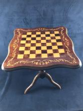 Lot 591: Wooden Standing Chess Table