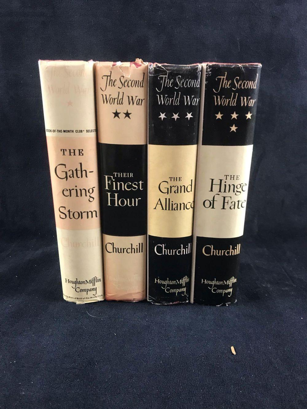 Lot 589: The Second World War 4 Volumes By Winston Churchill