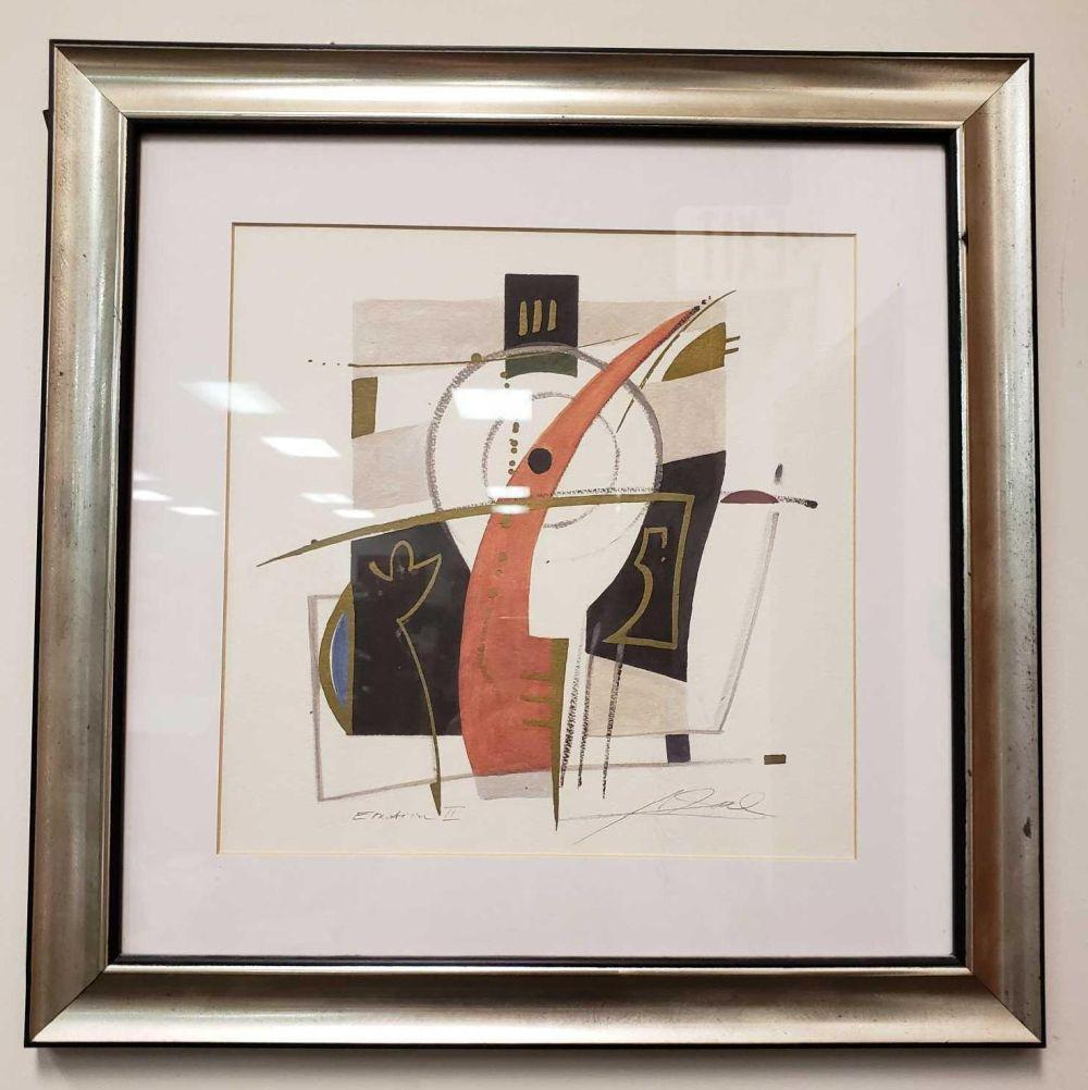 Lot 596: Emotion II Abstract Signed Art Print