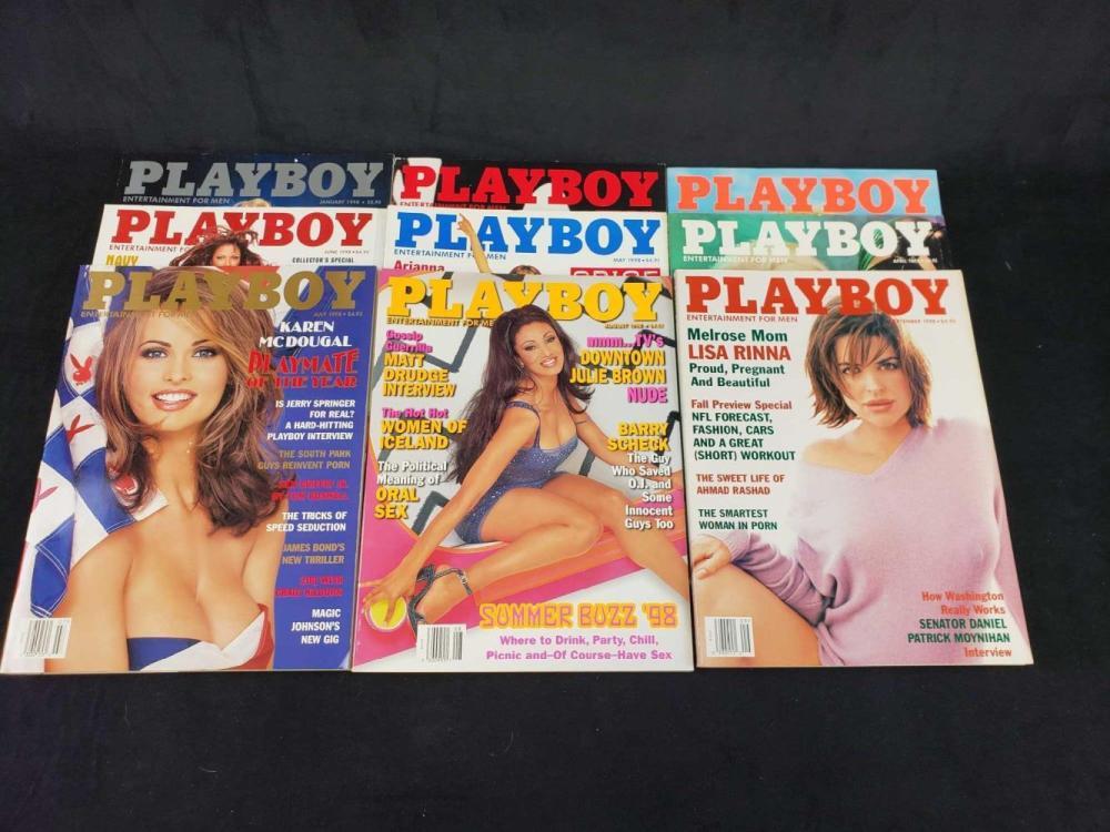 Lot 594: Twelve 1998 Playboy Magazines B