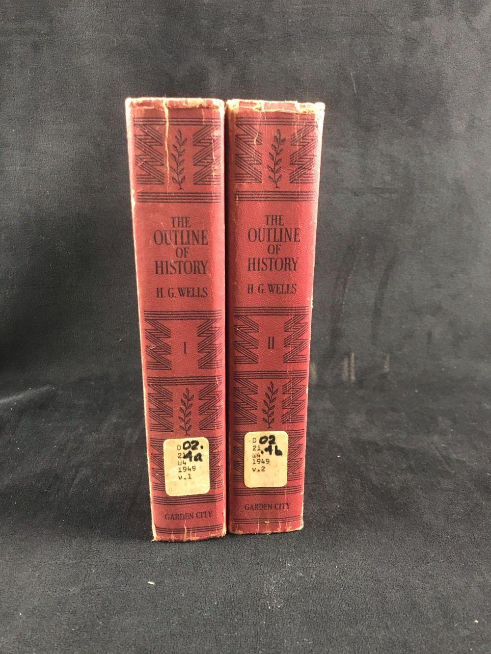 Lot 597: HG Wells Outline Of History Hardcover Set