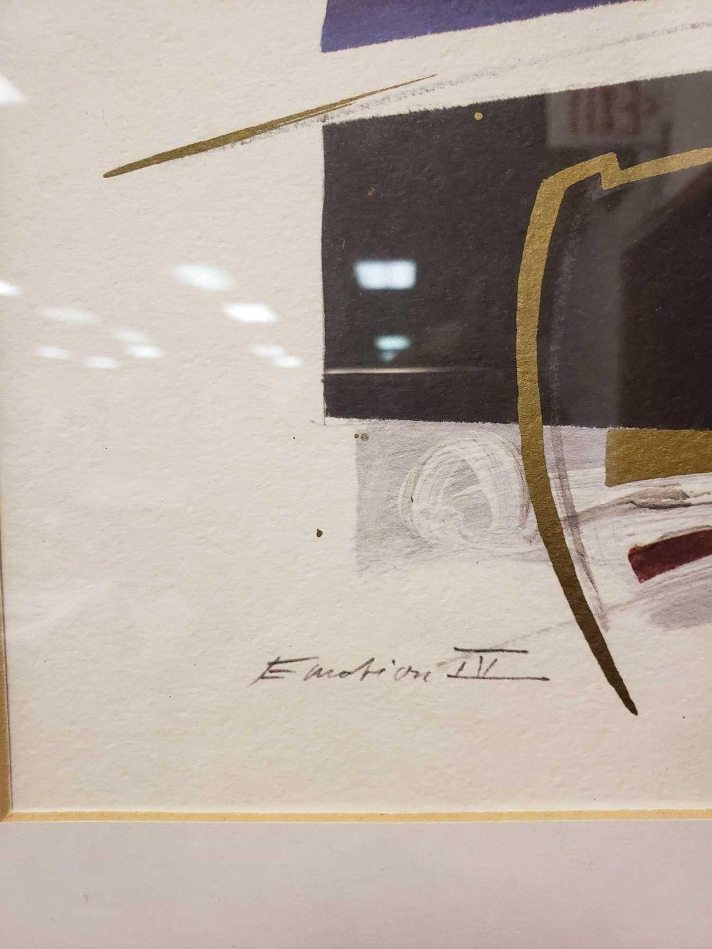 Lot 600: Emotion IV Abstract Signed Art Print