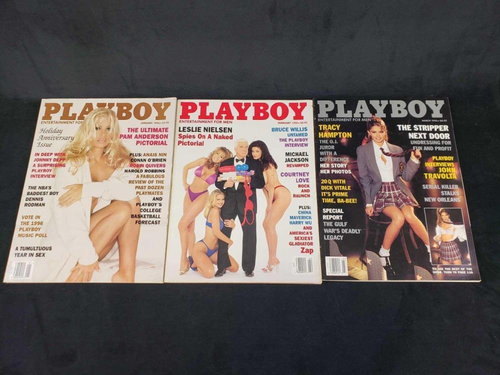 Lot 606: Eleven 1996 Playboy Magazines