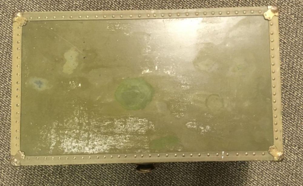 Lot 612: Lacelsior Green Steamer Trunk