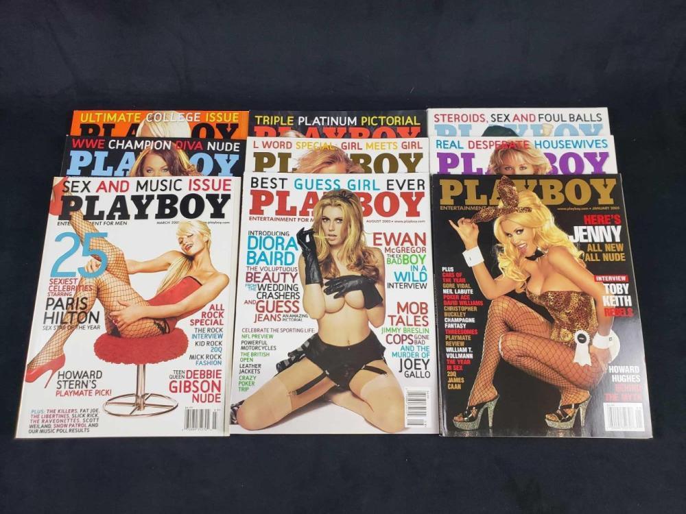 Lot 620: Twelve 2005 Playboy Magazines