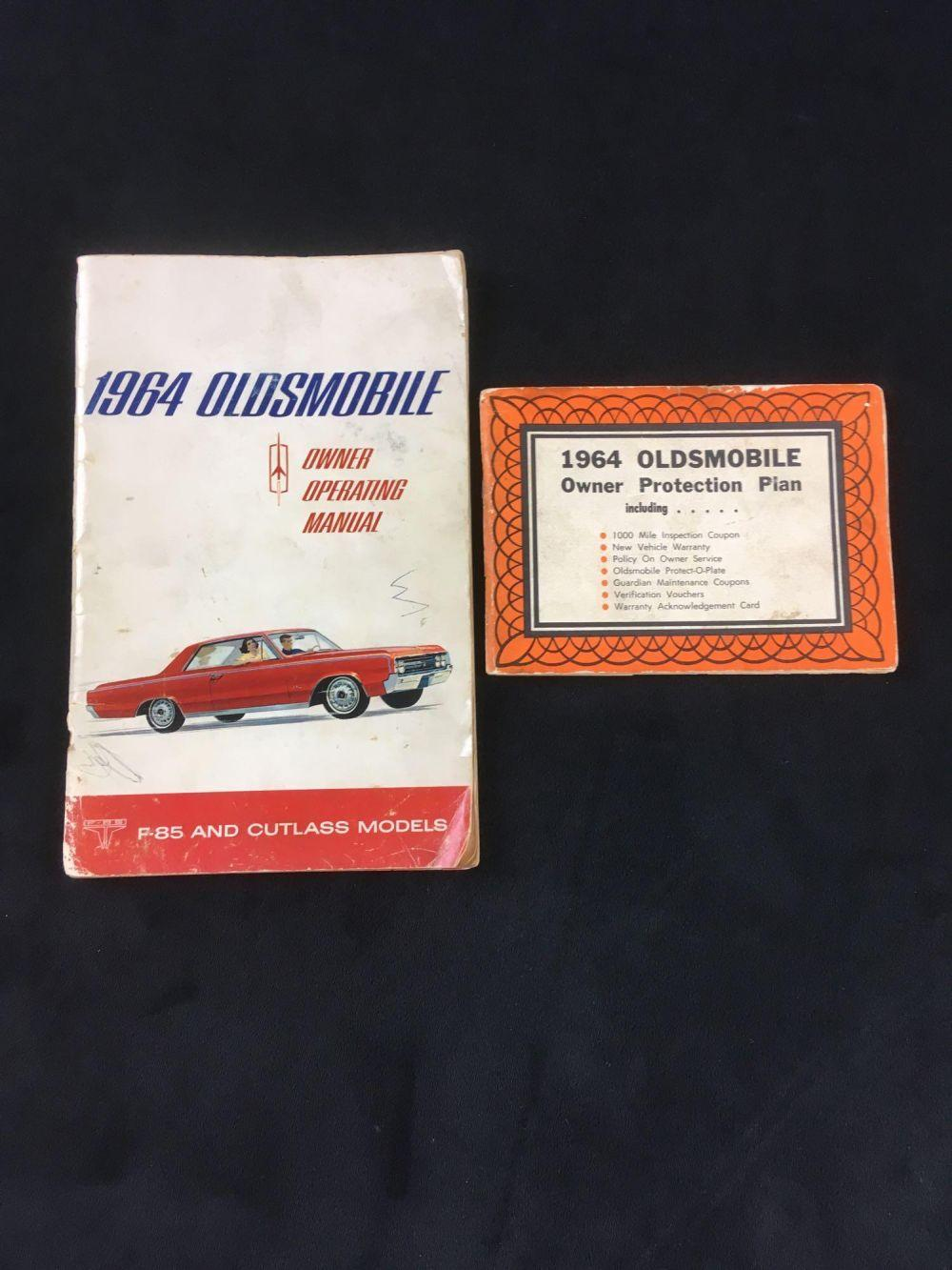 Lot 623: Automobile History Docs of Original Operating Manual and Owner Protection Plan for 1964 Oldsmobile