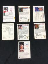 Lot 621: Collection of 7 Vintage US Olympic Hall of Fame Collector Cards