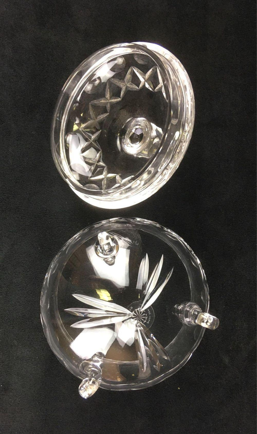 Lot 632: Vintage Fine Galway Crystal Candy Dish with Lid