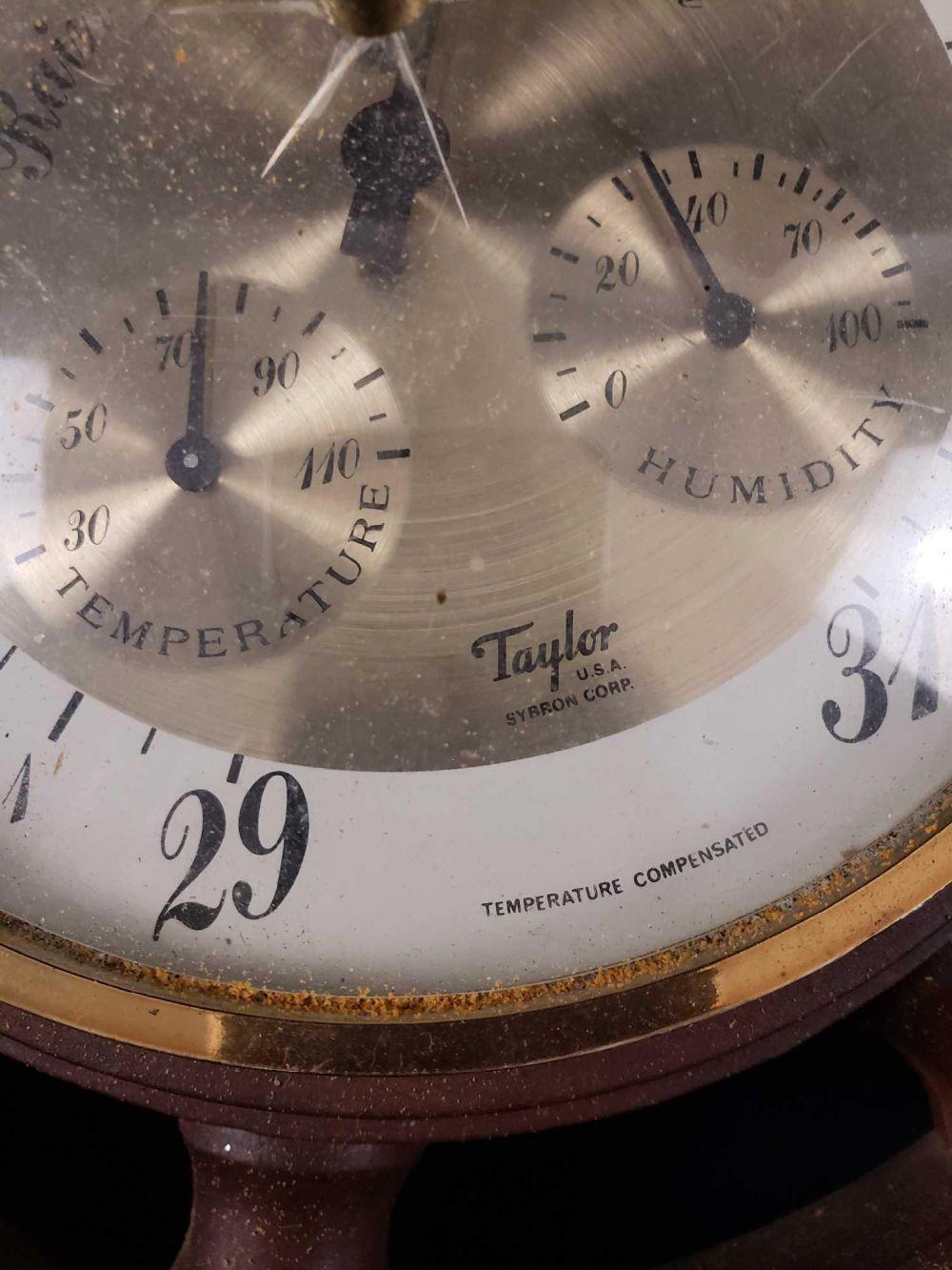 Lot 644: Taylor Steering Wheel Barometer