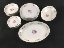 Lot 647: Arlen Fine China Dinnerware of 25 Pieces in the Petite Pattern