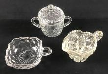 Lot 649: Collection of Three Crystal and Cut Glass Items