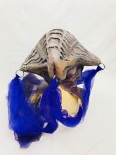 Lot 655: NOS - Quality Latex Halloween Mask - Purple Alien Zombie - Zagone Studios?