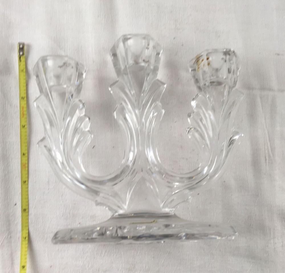 Lot 657: Hofbauer Genuine Lead Crystal Candelabra