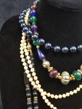 Lot 866: Lot of 4 Costume Faux Pearl and Beads Jewelry