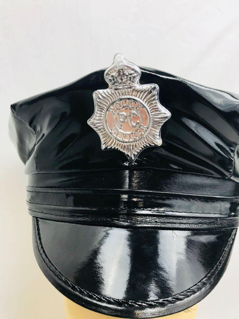Lot 1001: Women's Vinyl Cop Hat Halloween Costume Accessory for Cosplay - Leg Avenue