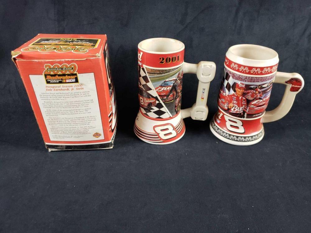 Lot 1002: Lot of 3 Number 8 Dale Earnhardt Jr Beer Steins