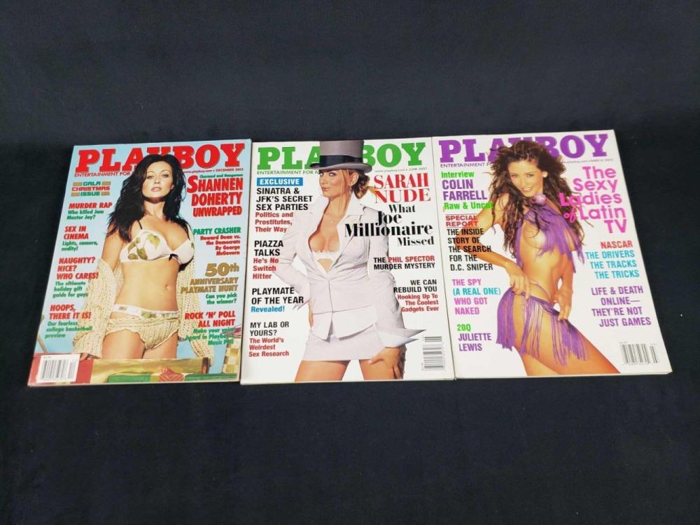 Lot 1005: Eleven 2003 Playboy Magazines