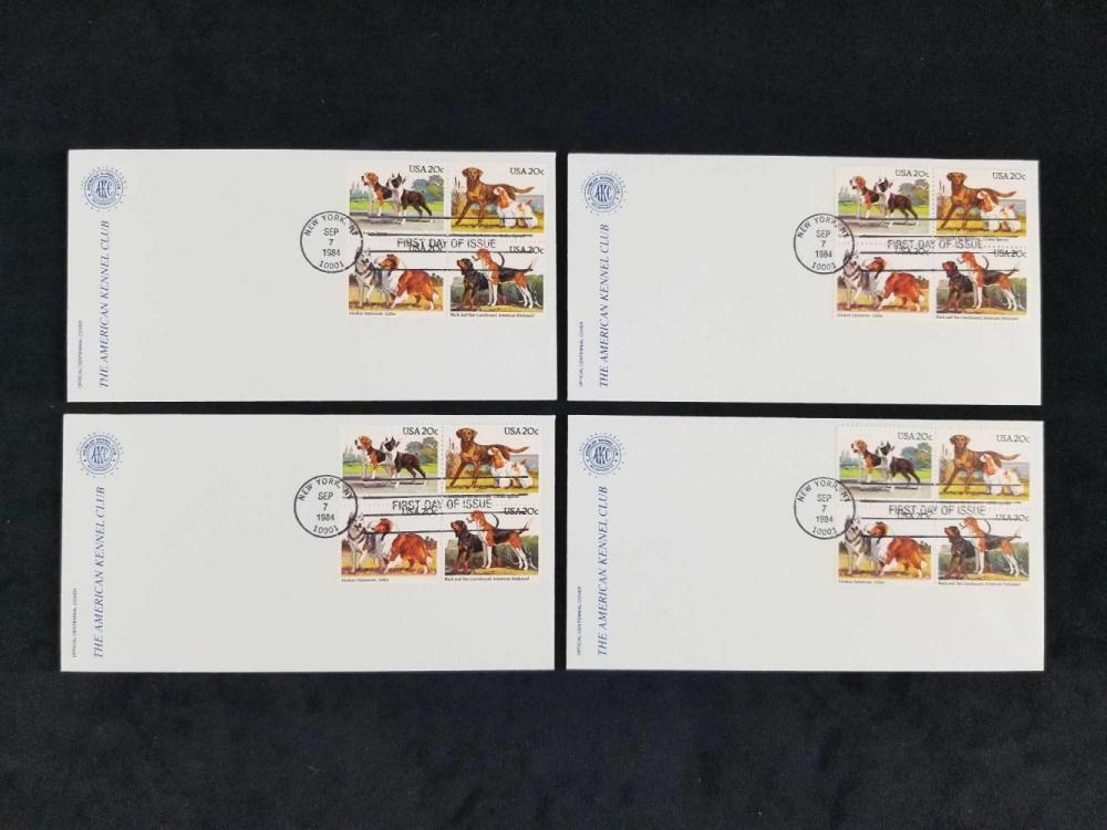 Lot 1006: Collection of US Postal Service Stamps and Covers Documenting Sporting Events Autos and Animals