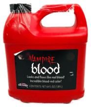 Lot 1009: Halloween Decor, Bottle of Vampire Blood, 64 Oz, NOS