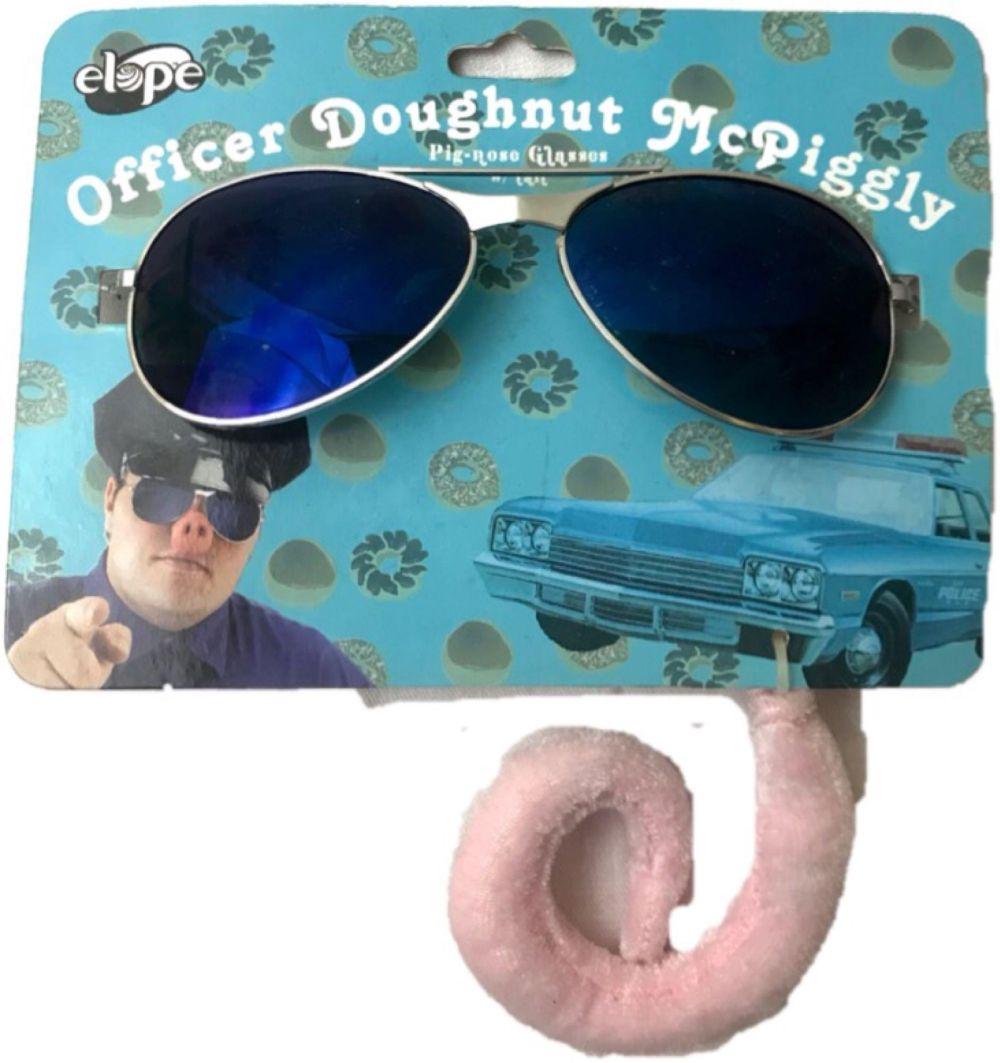 Lot 1010: NOS - Halloween Accessory - PIG NOSE and COP GLASSES - Mr Piggy