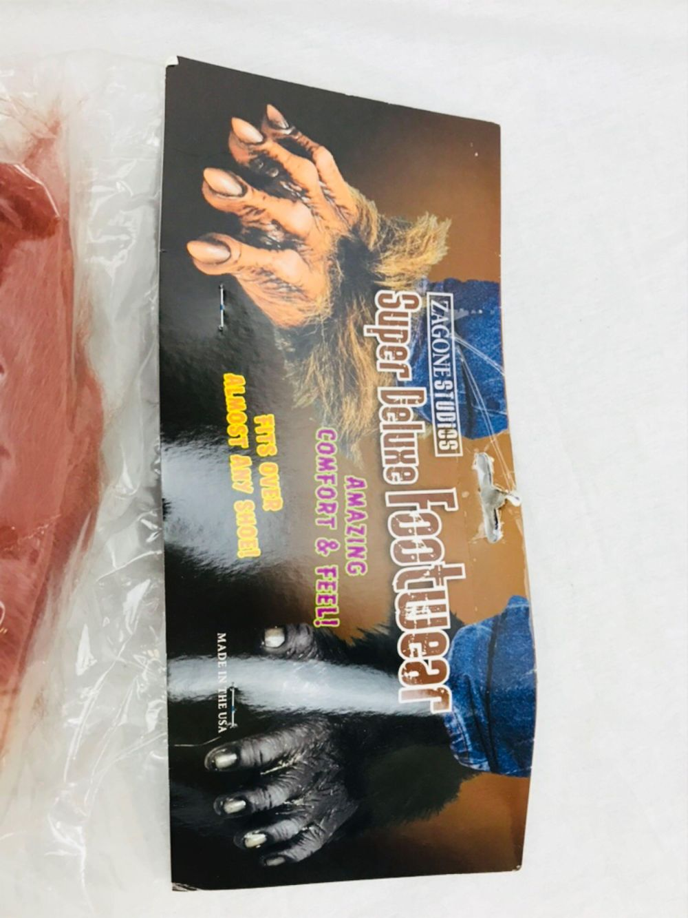 Lot 1017: NOS - Halloween Costume Zagone Super Deluxe Orangutan Feet Adult Size