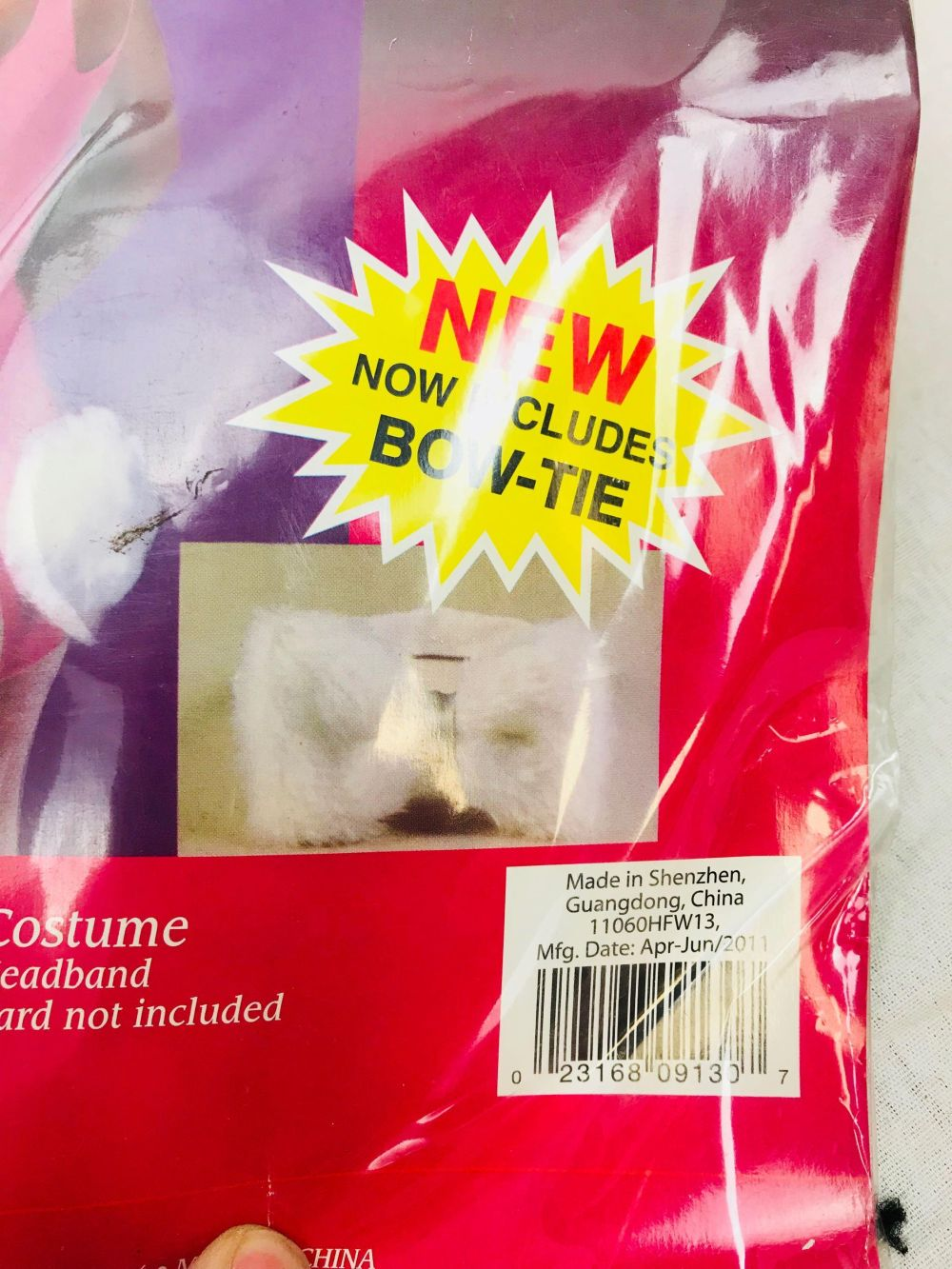Lot 1021: 3 Cat and Bunny Ears and Tail Halloween Costume NOS