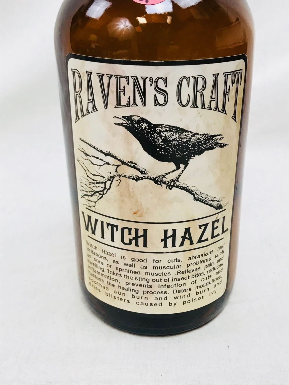 Lot 1025: Halloween Decor, 3 Brown Bottles of Brew/Potions to Enhance Your Life, NOS
