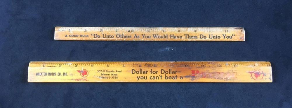 Lot 1028: Vintage Rulers from Coca Cola and Pontiac
