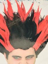 Lot 1029: NOS - Halloween Wig - On Fire - Heat Miser - Adult Wig