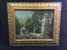Lot 1031: Vintage Framed Print Nightingales