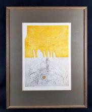 Lot 1037: Original Collagraph Print by J B Thompson Numbered and Signed