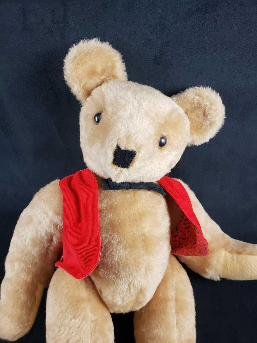Lot 1038: Teddy Bear with Bow Tie and Red Vest