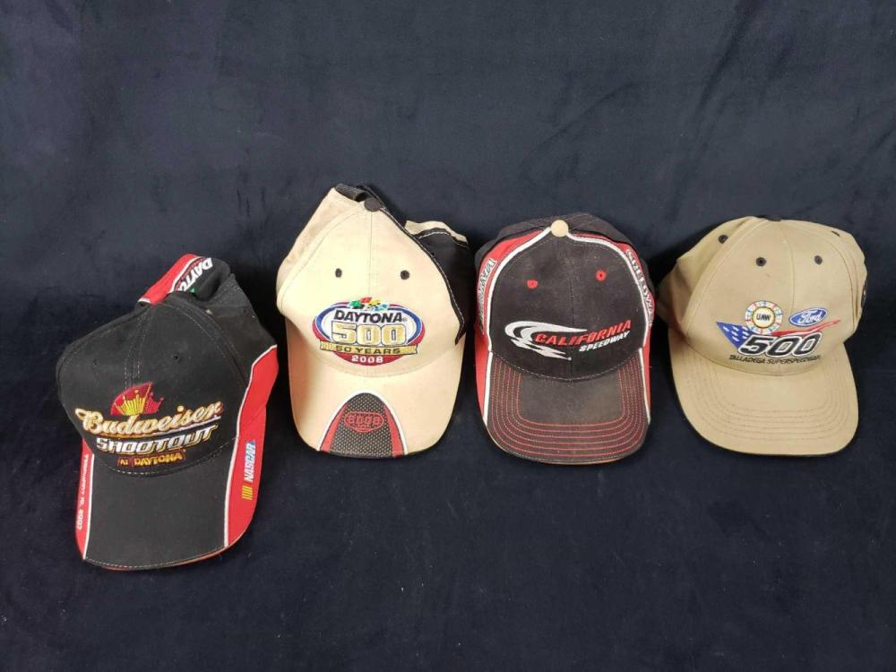Lot 1051: Lot of 9 Adjustable Assorted Baseball Caps